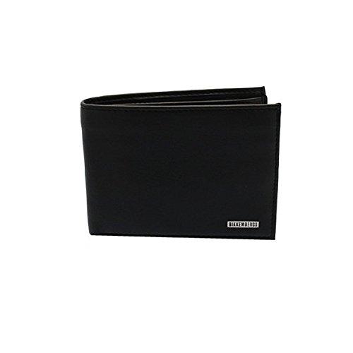 Leather man wallet BIKKEMBERGS item 6AD3501D DB-WALLET METAL PLATE BILLFOLD 7 C/ (Bikkembergs Shoes Men)