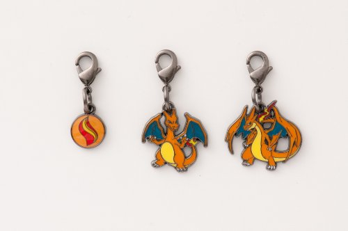Pokemon Center National Pokedex Metal Charm Mega Charizard Y