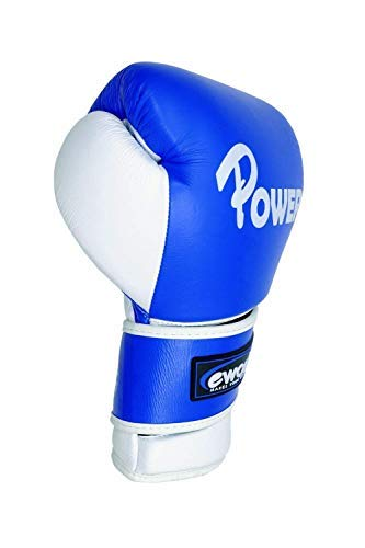 Ewonder - POWER PRO LEATHER BOXING GLOVES -16oz Heavy Punch Bag / Mitts / Sparring Gloves - 4 Layer Shock Absorbing Technology - High Quality Training and Sparring Gloves for Power Punchers