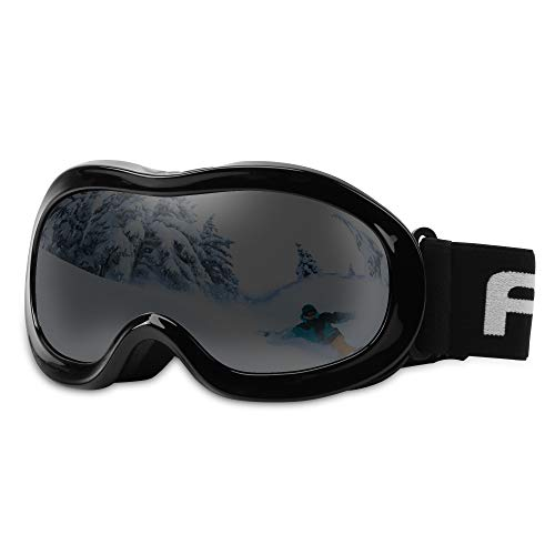 AKASO Kids Ski Goggles, Snowboard Goggles Snow Goggles for Youth, Kids & Teenagers, Anti-Fog, 100% UV Protection, Double-Layer Spherical Lenses, Helmet Compatible