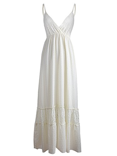 beige lace summer dress - 3