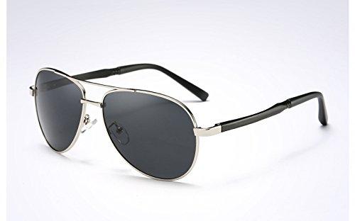 Gafas black UV protegen polarizadas400 silver Ojos de Deportivas de Sunglasses Gris Revestimiento TL los Gafas Sol Negro Sol UqFfT5