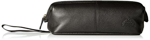 Dopp Men's Soho Leather Traditional Framed Travel Kit, Black (Leather Black Soho)