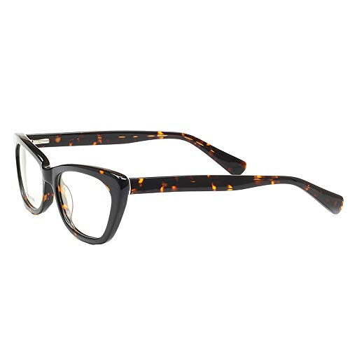 1f098805bd Women s Ladies New Stylish Full-Rim Cat Eye Prescription Eyeglass Frames  (Leopard Print)