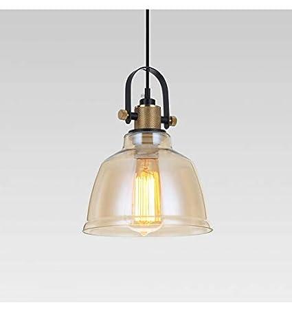 Lámpara de techo industrial cristal ámbar - Kalinka Kosilum ...