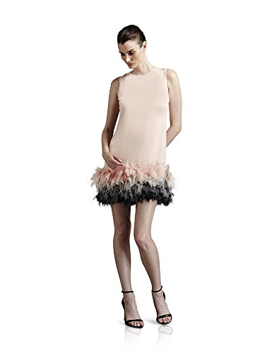 Fabiola Arias Women's Baby Doll Cocktail Dress 14 Soft Pink Ombre