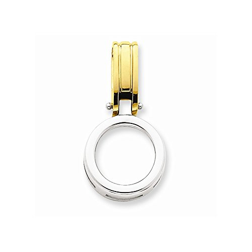 14k Two-tone Fits up to 2.5mm Omega, 6mm Reversible, Omega Slide by Core Gold
