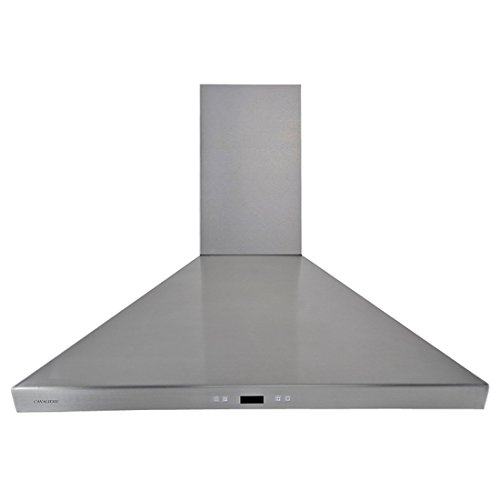 CAVALIERE SV218F-36 Wall Mounted Stainless Steel Kitchen Range Hood 900 CFM (Steel Chimney Wall Hood Stainless)