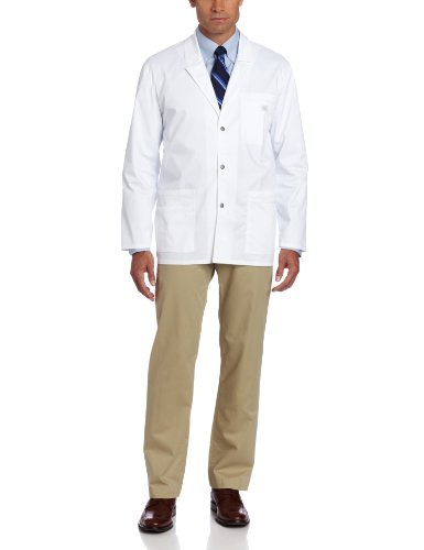Dickies Men's Gen Flex Youtility Contrast Stitch 31 Inch Lab Coat, White, Large