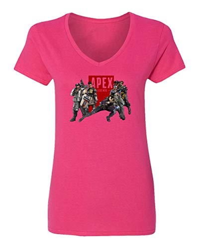 Baku Apparel The Next Evolution Legends Game Beast Hunt Fans Womens Vneck T-Shirt (Pink, X-Large) ()