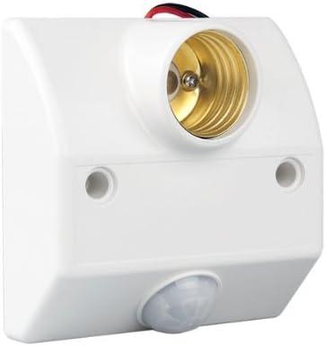 Base Portalamparas con Sensor Movimiento Infrarrojos Blanco