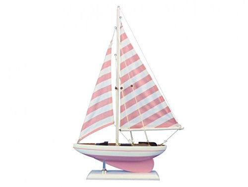 Pink Sailboat - Hampton Nautical sailboat17-103 Wooden Pretty in Pink sailboat17-103 Sailboat 17