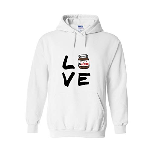ZMvise I Love Nutella Fashion Drawstring Pullover Unisex Adult Youth Hoodie Sweatshirts Sweater