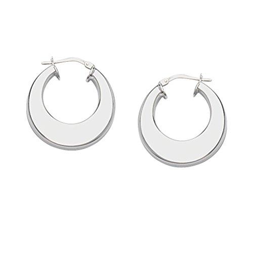 Flat Hoop Earrings Artform Designer Collection Sterling Silver Nontarnish