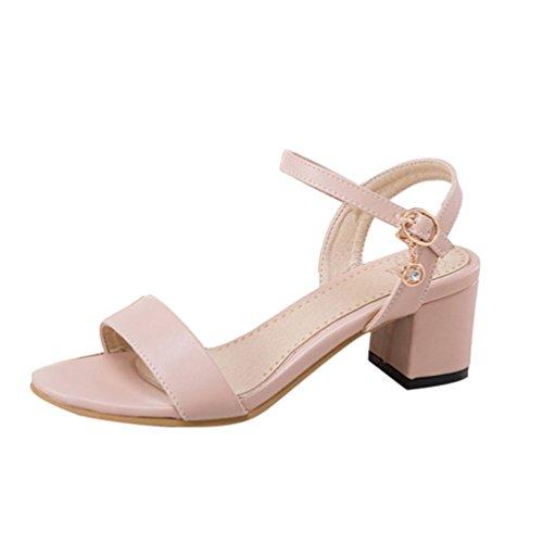 Boucle Haut Mode CHENYANG Escarpin Pink Lanière Femme Talon Plateforme Chaussure Sandale OgOTxZwRq