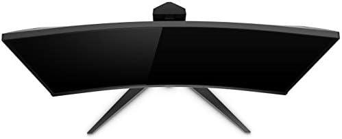 AOC CQ27G1 27″ Curved Frameless Gaming Monitor QHD/2K, 1ms, 144Hz, FreeSync, DisplayPort/HDMI/VGA, Height adjustable, 3-Year Zero-Bright Dot, Black/Red 31Z2WwX41cL