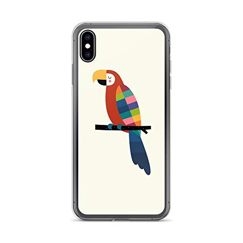 iPhone Xs Max Case Anti-Scratch Creature Animal Transparent Cases Cover Rainbow Parrot Letâ€s Create Your Own Colour Palette Animals Fauna Crystal Clear