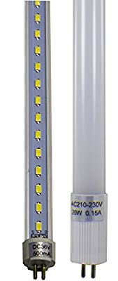 4 Pack of Duda LED Tube Lights with Premium Aluminum Heat Dissipater for Extended Operation Time - Choose from a Variety of Sizes T5 T10/T12