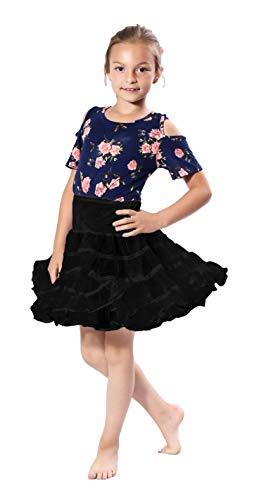 - Malco Modes Girls Crinoline Petticoat Underskirt for Poodle Skirt or Vintage Dress (Black)