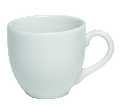Rattleware Coffee House Collection 3-1/2-Ounce-Cup, Set of 6, White