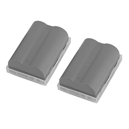 2 Pcs 7.2V Digital EN-EL3e Battery Rechargeable Li-Ion Battery for Nikon D700 D300 D200 D80 D90 D70s D300s D50 D100