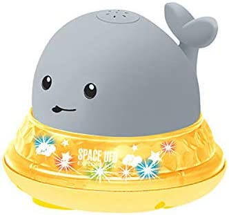 Automatic Induction Whale Sprinkler Baby Bath Toys Musical Fountain Toy Fun Bath Gifts for Toddlers Infants Girls Boys Light Up Bathroom Spray Water Toy
