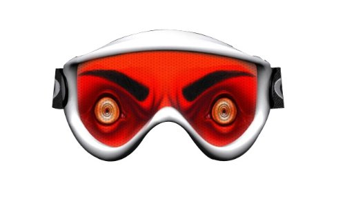 Red SkullSkins Devil Motorcycle Goggle Skin 1-GS-DEVIL