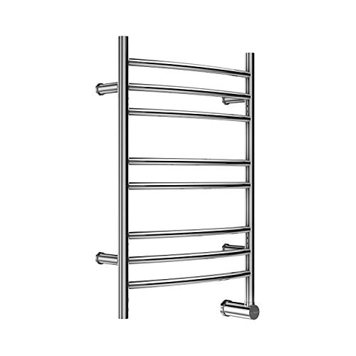 Mr Steam W328TSSP W328 8-Bar Wall Mounted Electric Towel Warmer with Digital Timer in Stainless Steel Polished