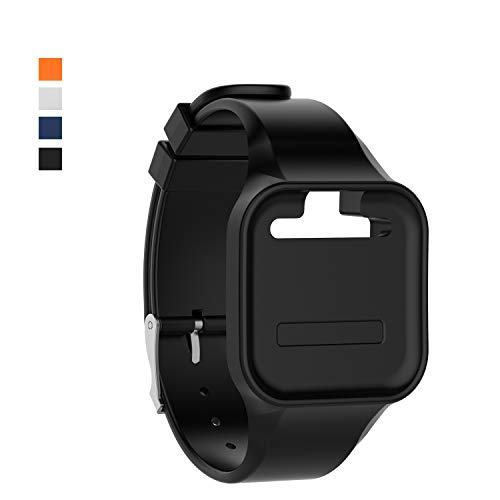 Chofit Wristband Compatible with GolfBuddy Voice 2 Watch, Silicone Replacement Band Straps Watchbands Fit for Golf Buddy Voice/Voice 2 Golf GPS Watch (Black)