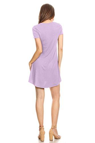 Summer USA for Women Top Shirt Dress Dress T Lavender Mini Tunic YxHZwOxq