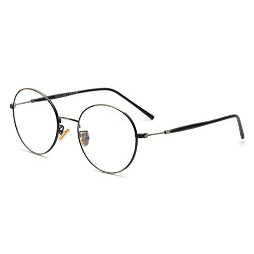 TIJN Retro Round Preppy Metallic Eye Glasses - Glasses Preppy Frames