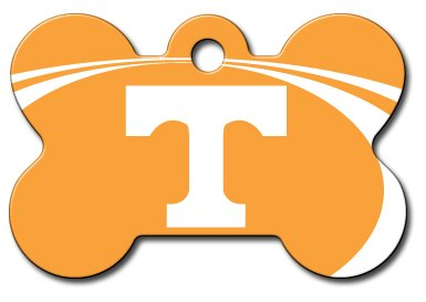 dogIDS Personalized Laser Engraved 1.5 x 1 inch Tennessee Volunteers Bone Shape Pet ID Tag Free Tag Silencer