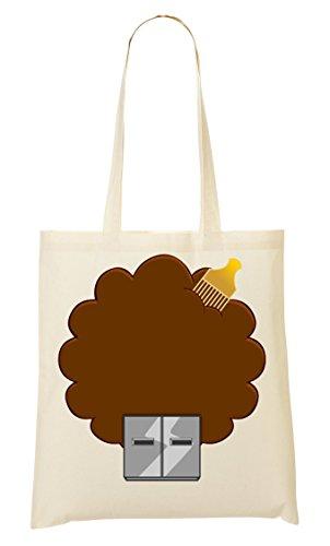 CP Hair Afro Usb Plug Computer Funny Bolso De Mano Bolsa De La Compra