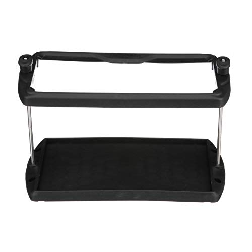 (SEACHOICE 21981 USCG-Approved Premium Marine Group 27 Series Hold-Down Battery Tray, Black)