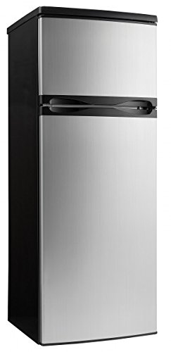 Danby DPF073C1BSLDD Designer 7.3 cu.ft. Two Door Apartment Size Refrigerator, Steel