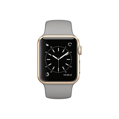 Apple Watch Series 1 38mm Smartwatch (Gold Aluminum Case with Concrete Sport Band)
