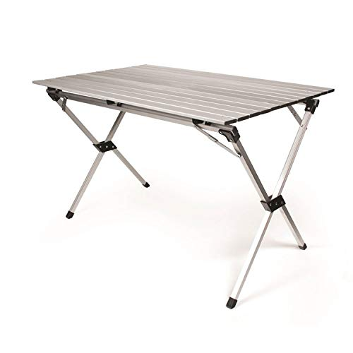 - Camco Aluminum Roll-Up Campsite Table with Carrying Bag -  Ideal for Tailgating, Camping, The Beach, Parties and More, Lightweight Design, Durable and Rust Resistant (51892)