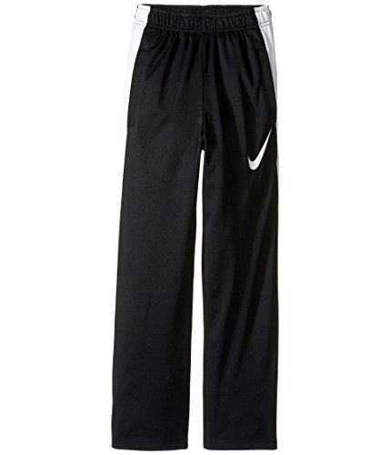 NIKE Boys' Dry Performance Knit Pants, Black/White/White, Large Boys Knit Pants