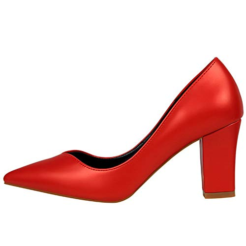 Pompe Red Punta Donna A Signore Tacco Tribunale Lavoro Alti Stiletto Festa Largo Tacchi Scarpe XA6qAHOw7