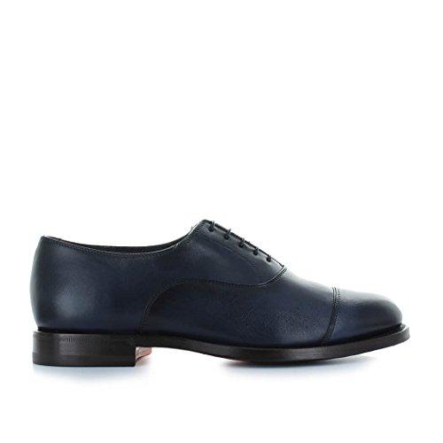 Oxford Cuir 2018 Homme En Chaussure Bleu Printemps été Chaussures Santoni Ux6nqwzCtC