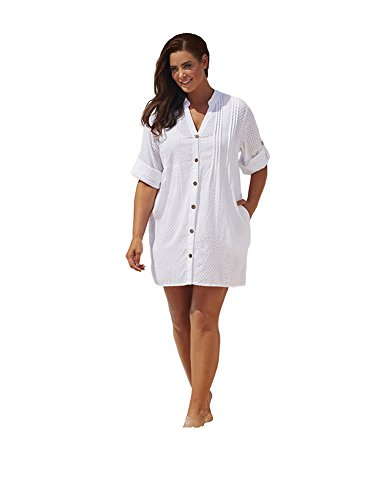 swimsuitsforall Women's Swiss Dot Cover Up 14 / 16 (Dot Cover Up)