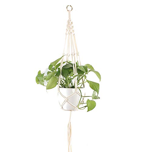 ZUOLUO Macrame Plant Hanger Hanging Planter Indoor Hanging Plant Holder Plant Accessories Garden Handmade Cotton Rope…