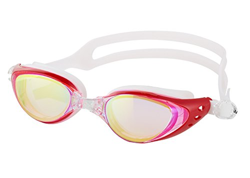 Aquazone Adjustable Swimming Goggles (Lifetime Replacement Guarantee) Premium UV400 Protection-Anti Fog Swim Goggles-Free Case for Adult Men Women Youth Kids Child - Goggle Bag Swim