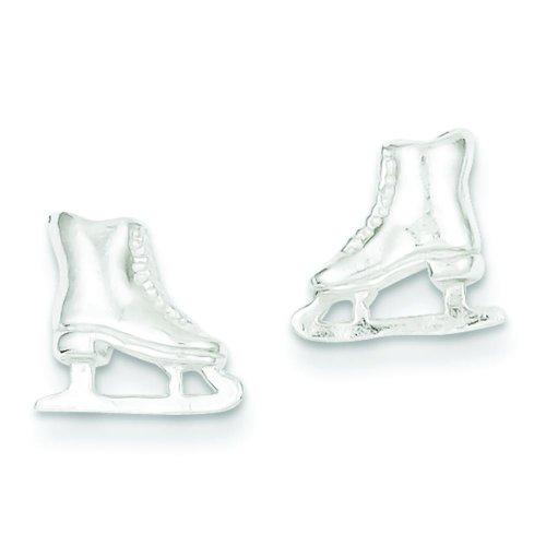 Sterling Silver Ice Skate Stud Earrings Jewelry