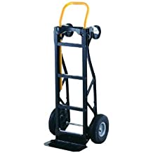 """Harper Trucks 700 lb Capacity Glass Filled Nylon Convertible Hand Truck and Dolly with 10"""" Pneumatic Wheels"""