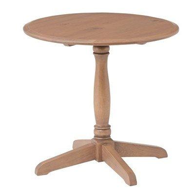 アンティーク調ラウンドテーブル/リビングテーブル 〔円形 直径60cm〕 木製 木目調 『バーニー』 PM-618[通販用梱包品] B07F8Z9FN5