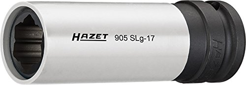 Hazet 905SLG-17 Size 17 SPECIAL-Profile 1//2 Square Impact Socket