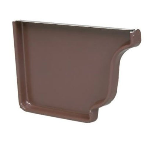 - AMERIMAX HOME PRODUCTS 2520619 5 in. K-Style Brown Aluminum Right End Cap