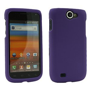 Rubberized Purple Snap-On Cover for Samsung Exhibit II 4G SGH-T679