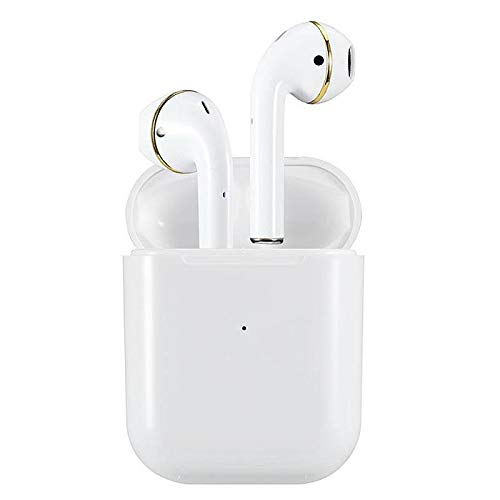 Bluetooth Headset, Wireless Headphones Blutooth 5.0 Earbuds Mini in-Ear Earphones with Mic Noise Cancelling Auto Pairing Portable Charging Case for iPhone iPad Android Phones etc